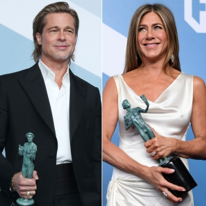 Brad Pitt and Jennifer Aniston Reunited Backstage at the 2020 SAG Awards
