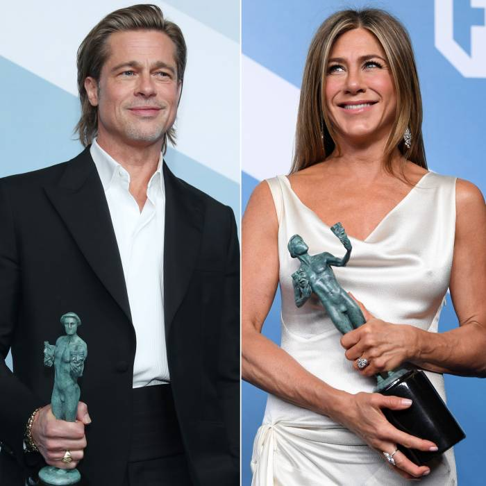 Brad Pitt and Jennifer Aniston Reunited Backstage at the 2020 SAG Awards