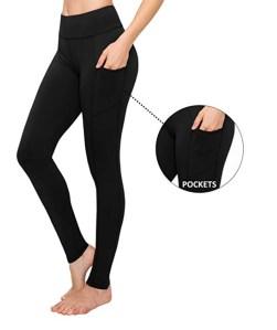 SATINA High Waisted Leggings (Full Length W/ Pockets Black(