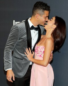 Wells Adams and Sarah Hyland Golden Globes 2020 After Parties