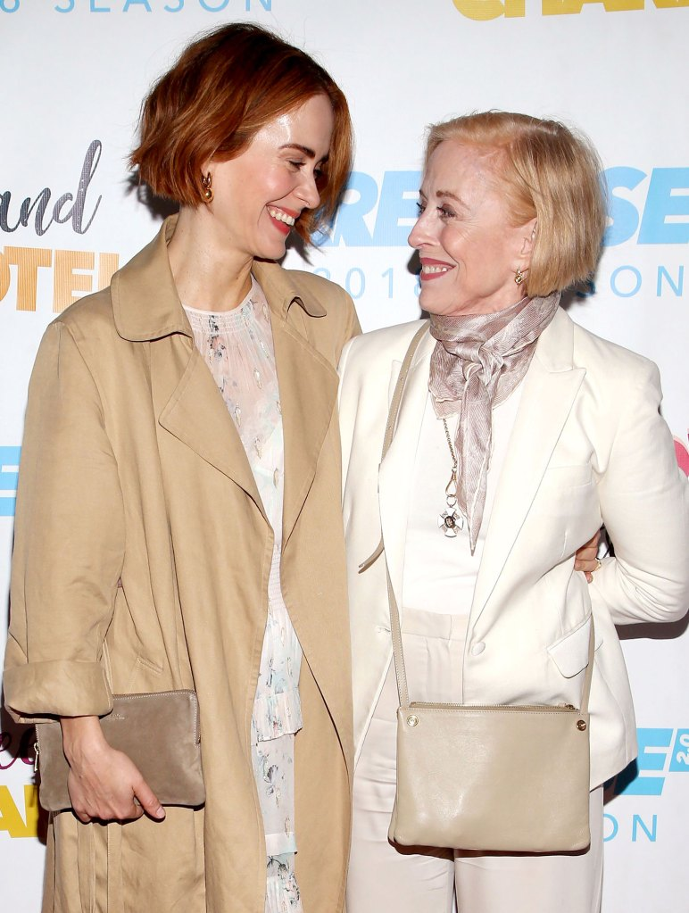 Sarah Paulson and Holland Taylor Looking At Each Other Sweet Charity