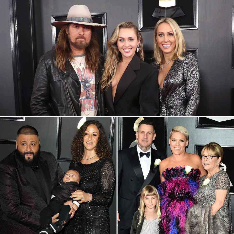 Stars Who Brought Family Members to the Grammy Awards
