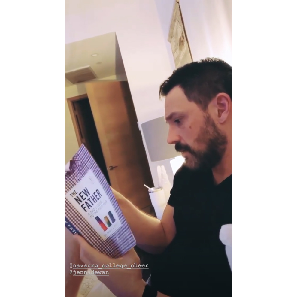 Steve-Kazee-Reads-Book-for-New-Dads-Ahead-of-Jenna-Dewan's-Birth