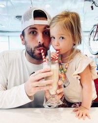 Tanner Tolbert Posts GirlDad Tribute Drinking a Milkshake with Daughter Emerson