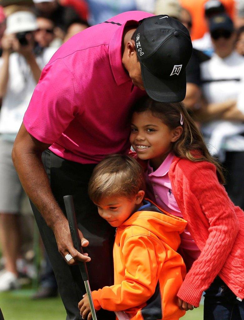 Tiger Woods, Charlie Woods, Sam Woods Masters