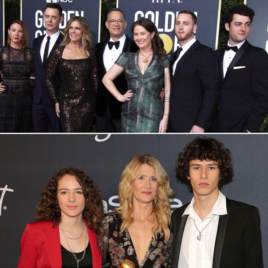 Tom Hanks and Laura Dern Family Golden Globes 2020