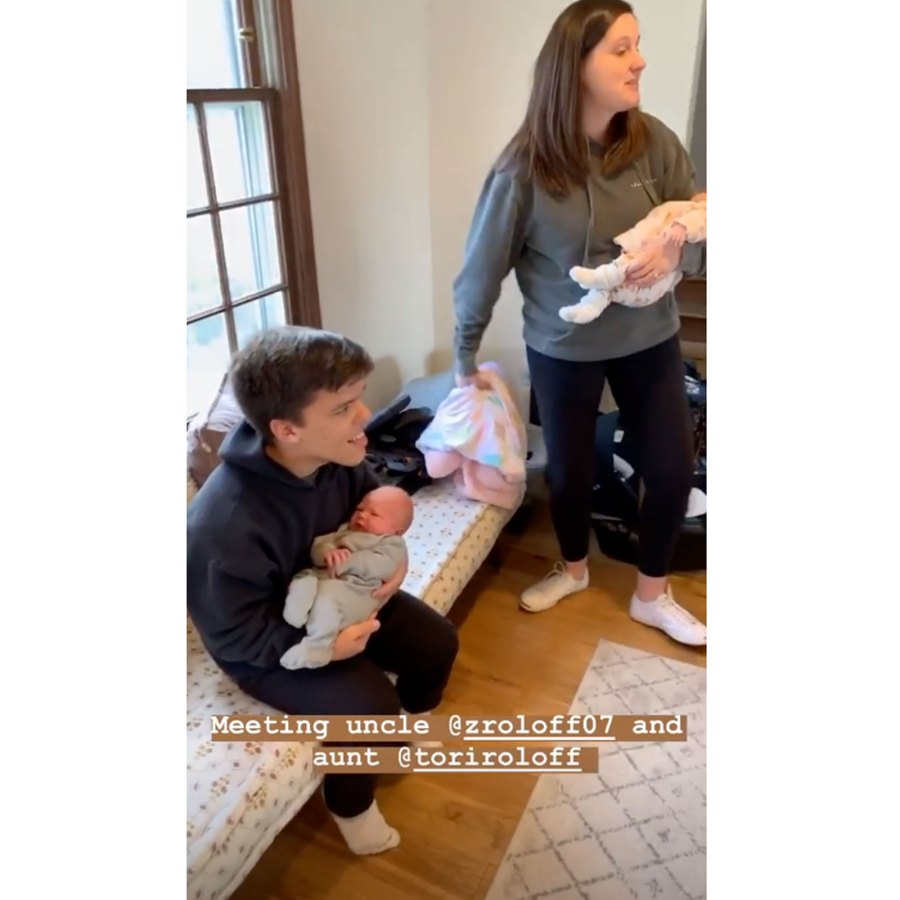 Tori Roloff's 1-Month-Old Daughter Meets Audrey Roloff's Newborn Son: 'Twinning'