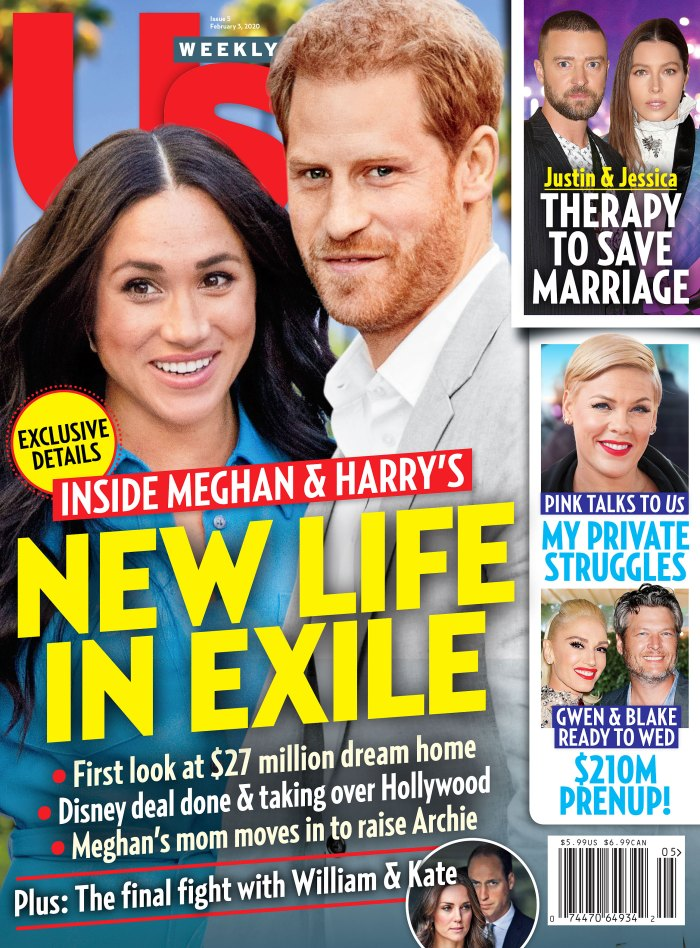 Us Weekly Cover Issue 0520 Meghan Markle and Prince Harry New Life in Exile