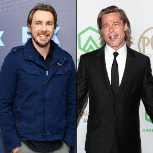 celebrity crush Watch Dax Shepard Gush Over Budding Bromance With Brad Pitt
