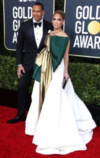 Jennifer Lopez Alex Rodriguez Heat Up the Red Carpet Golden Globes 2020