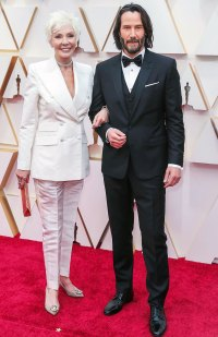 Keanu Reeves and his mother Patricia Taylor Stars Bring Family Members to 2020 Oscars