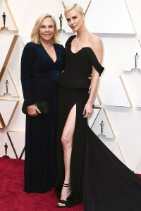 Gerda Maritz and Charlize Theron Stars Bring Family Members to 2020 Oscars