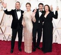 Tom Hanks Rita Wilson Truman Hanks and Elizabeth Hanks Stars Bring Family Members to 2020 Oscars