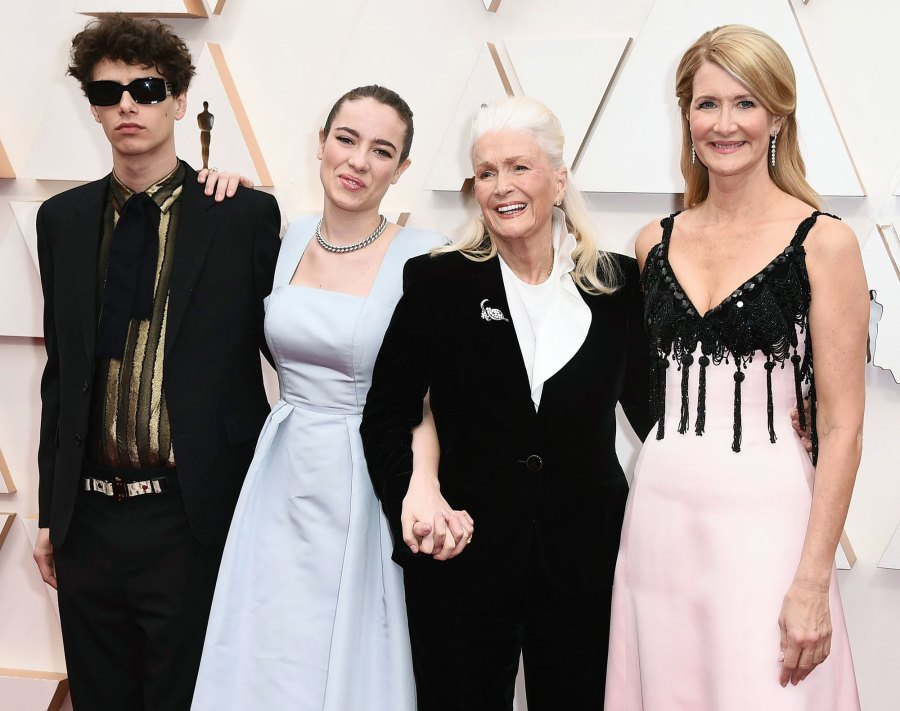 Ellery Harper Jaya Harper Diane Ladd and Laura Dern Stars Bring Family Members to 2020 Oscars