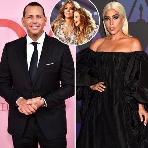 A Rod Gaga More Stars Celebrate J Lo Shakira Super Bowl Halftime