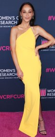 Cara Santana Marigold Gown February 27, 2020