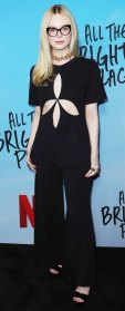 Elle Fanning Black Outfit February 24, 2020