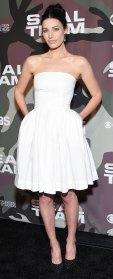 Jessica Pare White Dress February 25, 2020
