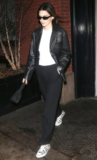 Kendall Jenner Leather Jacket February 13, 2020
