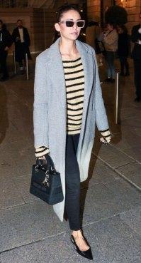 Nina Dobrev Striped Sweater February 25, 2020