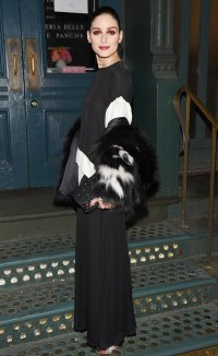 Olivia Palermo Black and White Dress February 12, 2020