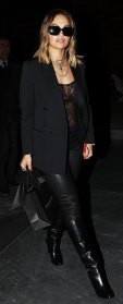 Rita Ora Black Outfit February 14, 2020