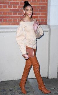 Winnie Harlow Two-Toned Trousers February 17, 2020