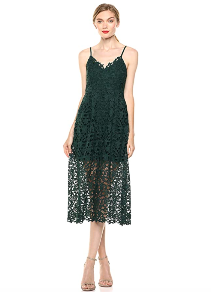 ASTR the Label Lace Midi Dress (Black)