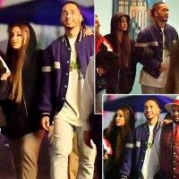 Ariana Grande Mikey Foster Walk Arm in Arm Disneyland Date