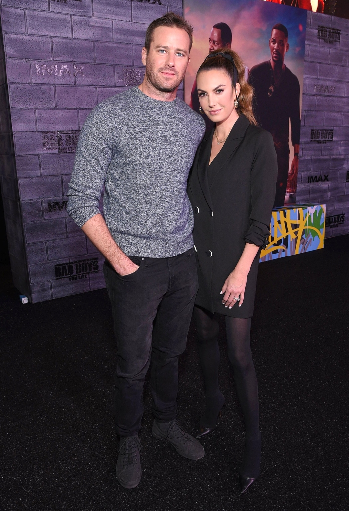 Armie Hammer and Elizabeth Chambers Bad Boys for Life