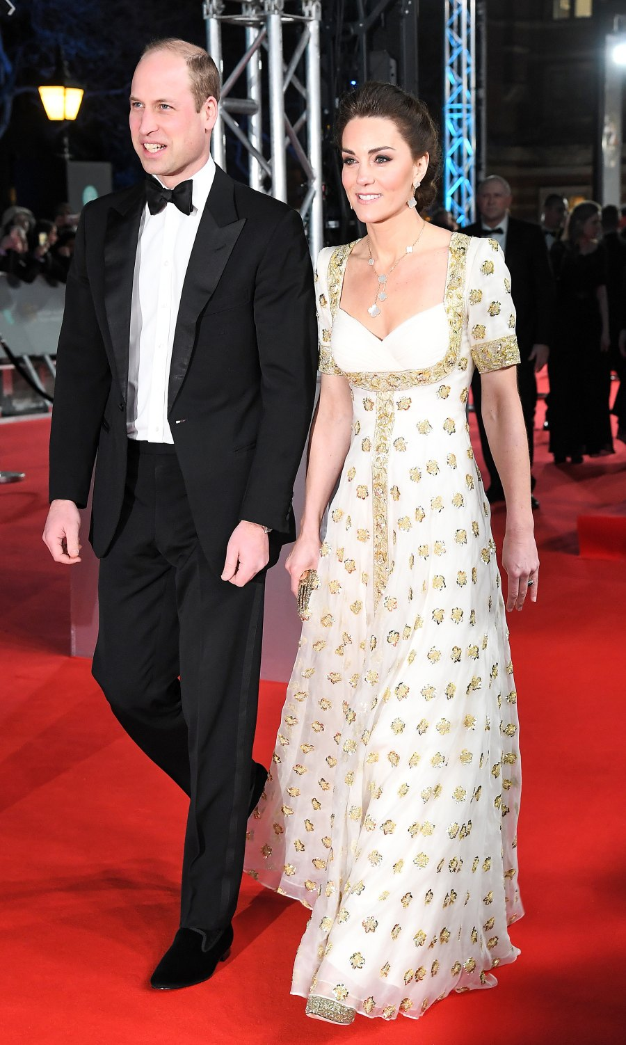 BAFTA Awards 2020 Duchess Kate and Prince William Arriving
