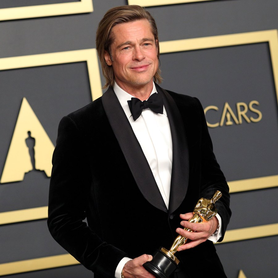 Brad Pitt Press Room Supporting Actor Once Upon a Time in Hollywood Oscars 2020