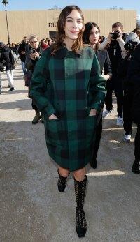 Celeb Style At Paris Fashion Week - Alexa Chung