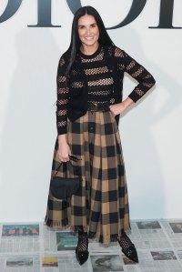 Celeb Style At Paris Fashion Week - Demi Moore
