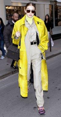 Celeb Style At Paris Fashion Week - Gigi Hadid