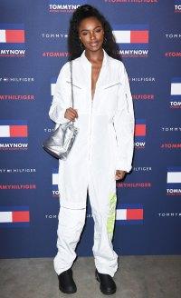 Celebs at London Fashion Week - Leomie Anderson