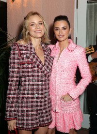 Diane Kruger and Penelope Cruz Charles Finch and Chanel Pre-Oscars Dinner