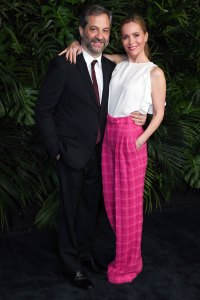 Judd Apatow and Leslie Mann Charles Finch and Chanel Pre-Oscars Dinner