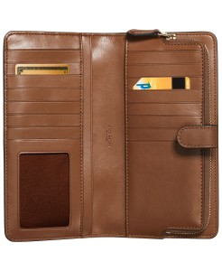 Coach Skinny Wallet in Refined Leather (1941 Saddle/Gold)