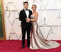 Colin Jost and Scarlett Johansson Couples PDA Academy Awards Oscars 2020