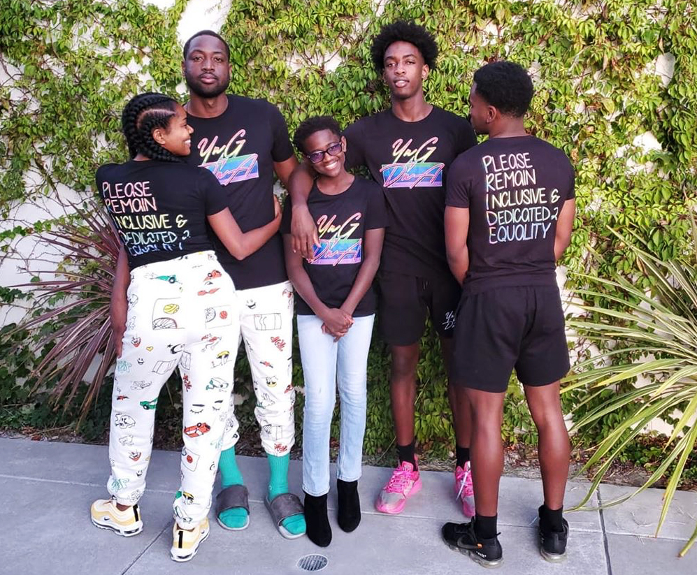 Dwayne-Wade's-Son-Zaire-Showers-Sister-Zaya-With-Love-After-Coming-Out