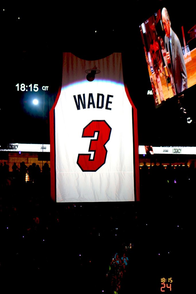 Dwyane Wade, Gabrielle Union Honor His Jersey Retirement