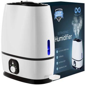 Everlasting Comfort Ultrasonic Humidifier for Bedroom (White)
