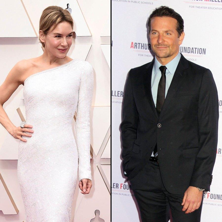 Exes Bradley Cooper and Renee Zellweger Mingle at Oscars 2020
