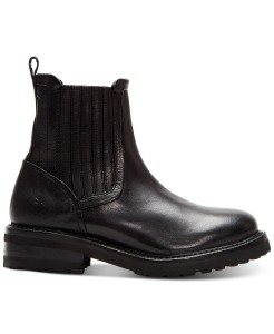 Frye Ella Moto Chelsea Boots (Black)