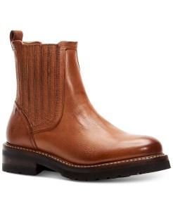 Frye Ella Moto Chelsea Boots (Light Brown)