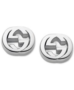 Gucci Women's Sterling Silver Interlocking G Stud Earrings