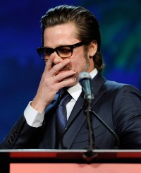 Hollywood Men Wearing Nail Polish - Brad Pitt