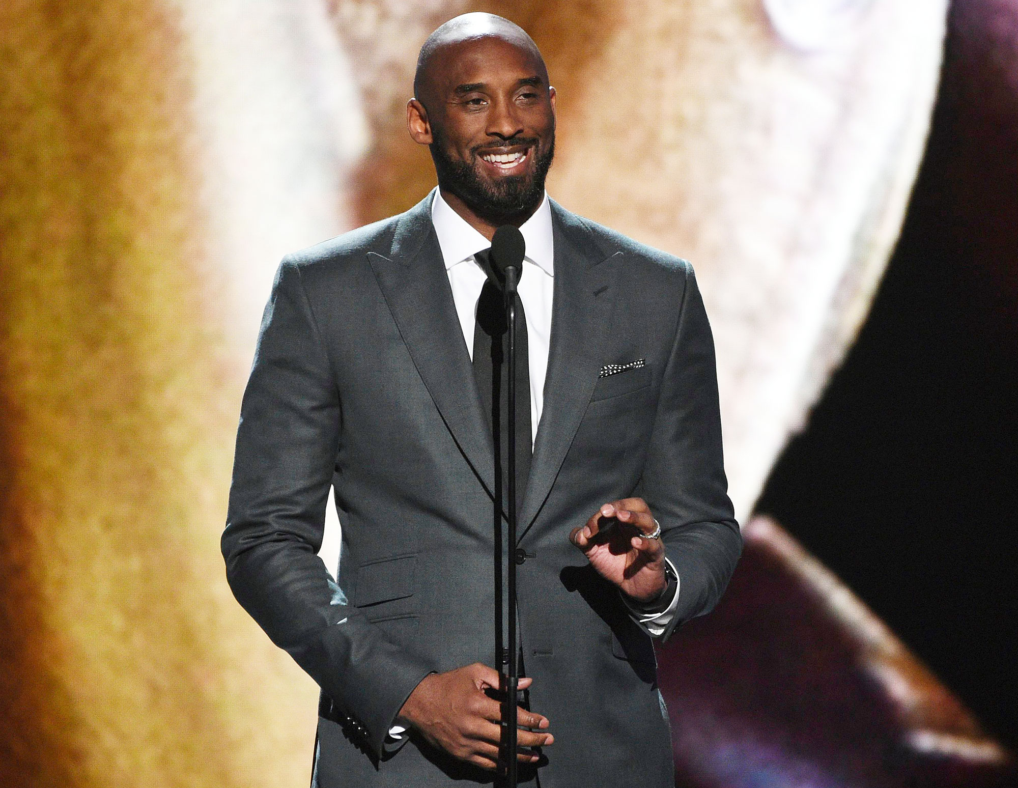 Kobe Bryant presents the Arthur Ashe award for courage at the ESPY Awards Ice Cube Remembers How Kobe Bryant Wanted to Be Even Better Than His Given Talents
