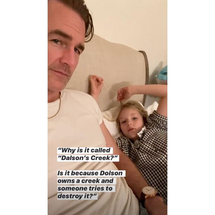 James Van Der Beek Hilariously Explains Dawson's Creek to His Daughter — With a Twist